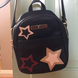 Tommy Hilfiger navy kids purse w stars
